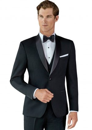 Black-Slim-Fit-Shawl-Lapel-Wedding-Tuxedo