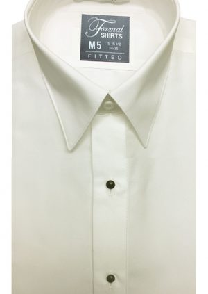 Ivory-Fitted-Dress-Shirt
